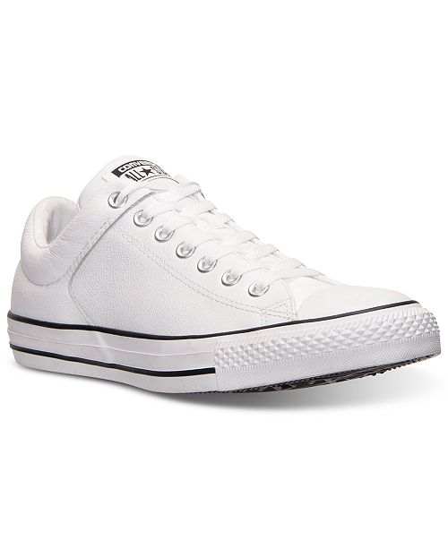 bd40a5fdb39c ... Converse Men s Chuck Taylor High Street Leather Casual Sneakers from  Finish ...