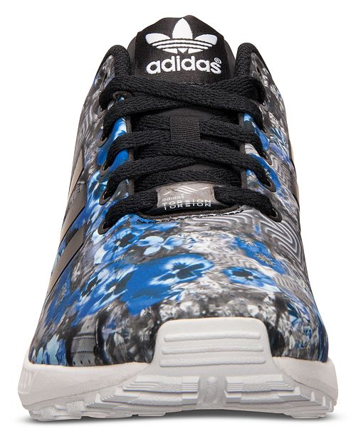 2c55a5816 ... adidas Men s ZX Flux Floral Print Running Sneakers from Finish Line ...