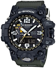 G-Shock Men's Analog-Digital Mud Master Green Bracelet Watch 56x59mm GWG1000-1A3
