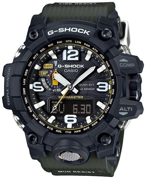 7fe7ca662fe6 ... G-Shock Men s Analog-Digital Mud Master Green Bracelet Watch 56x59mm  GWG1000- ...