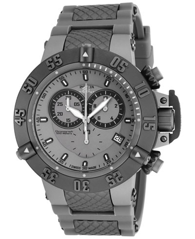 Invicta Men's Chronograph Subaqua Noma III Gray Stainless Steel Bracelet Watch 50mm 17214