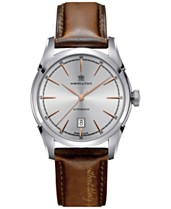 1c13a6de55 Hamilton Men's Swiss Automatic Spirit of Liberty Brown Calf Leather Strap  Watch 42mm H42415551