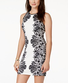 B Darlin Juniors' Printed Bodycon Dress