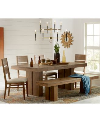 champagne dining trestle table, created for macy's - furniture
