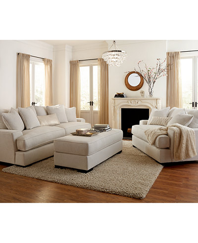 Ainsley Fabric Sofa Living Room Collection Created For Macy S