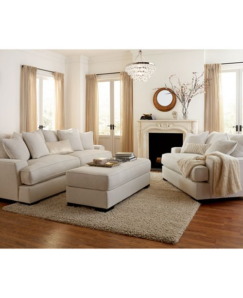 Furniture Ainsley Fabric Sofa Living Room Collection, Created for ...