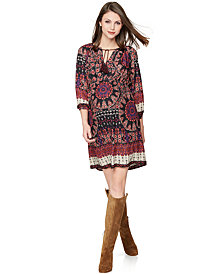 Collective Concepts Maternity Printed Split-Neck Dress