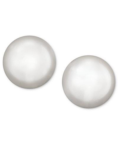 Belle de Mer Pearl Earrings, 14k Gold Cultured Freshwater Pearl Stud Earrings (5-1/2mm)