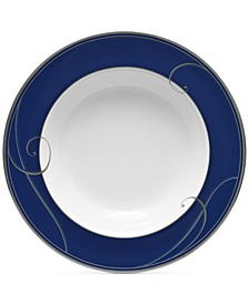 Platinum Wave Indigo Porcelain Soup Bowl