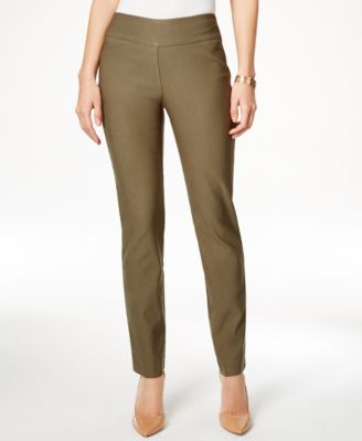 Image of Charter Club Petite Tummy-Control Slim-Leg Pants, Only at Macy's