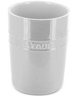 Staub White Ceramic Utensil Holder 2688947