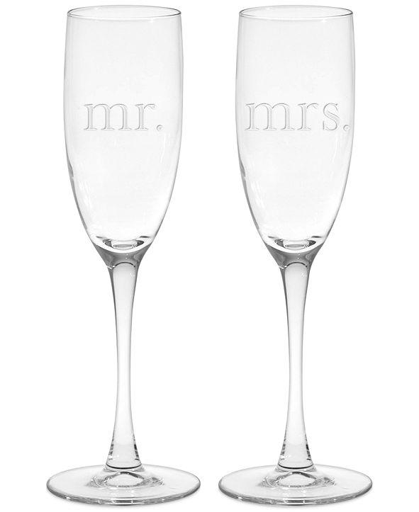 Culver Mr. & Mrs. Champagne Flutes, Set of 2