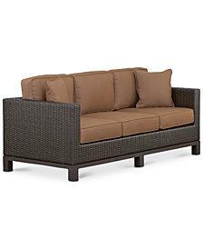 CLOSEOUT! Katalina Wicker Outdoor Sofa, Created for Macy's