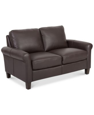 romy leather loveseat created for macyu0027s - Black Leather Loveseat