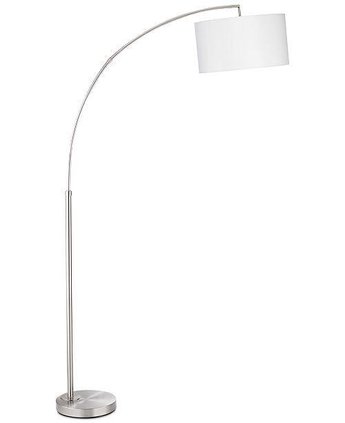 Kathy Ireland Pacific Coast Brush Steel Arc Floor Lamp, Created for Macy's