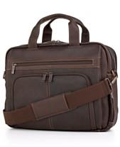 Kenneth Cole Reaction Columbian Leather Expandable Double Gusset Laptop  Briefcase e74995c96d950