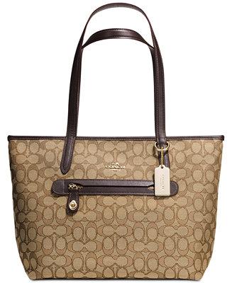 Coach Taylor Tote In Signature Jacquard Handbags