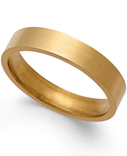 Macy's 4MM Wedding Band in 18k Gold