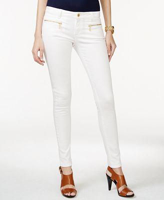 MICHAEL Michael Kors Zip-Pocket Black Skinny Jeans