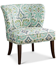 Janie Armless Accent Chair, Quick Ship