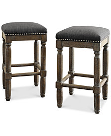 Clayton Set of 2 Stools, , Quick Ship