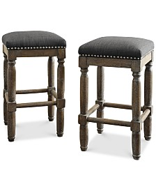 Coryn Set of 2 Stools, Quick Ship