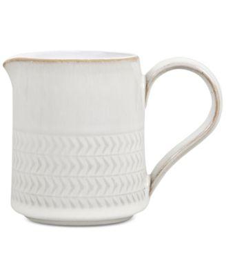 Natural Canvas Stoneware Textured  Small Jug