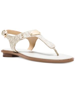 Michael Michael Kors Mk Plate Flat Thong Sandals Womens Shoes