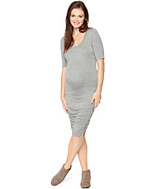 Motherhood Maternity Elbow-Sleeve Sheath Dress