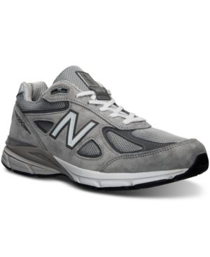 NEW BALANCE Men'S 990V4 Running Sneakers From Finish Line in Grey