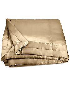 Donna Karan Home Reflection Gold Dust Full/Queen Silk Quilt