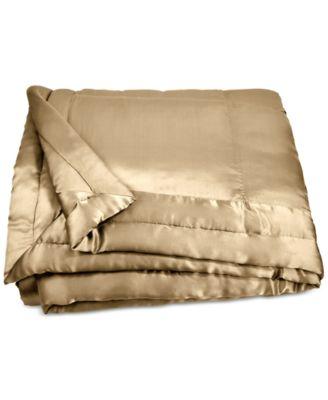 donna karan home reflection gold dust fullqueen silk quilt