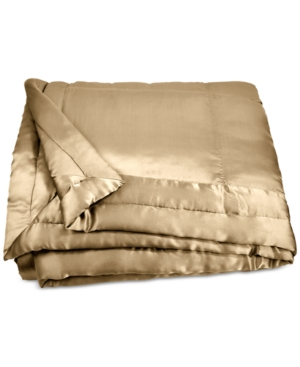 Image of Donna Karan Home Reflection Gold Dust Full/Queen Silk Quilt Bedding