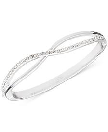 Gold-Tone Crystal Crisscross Bangle Bracelet, Created for Macy's