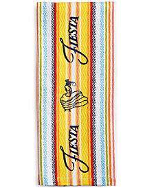 Fiesta Kitchen Towels, Dual Purpose Logo or Zig Zag Stripe