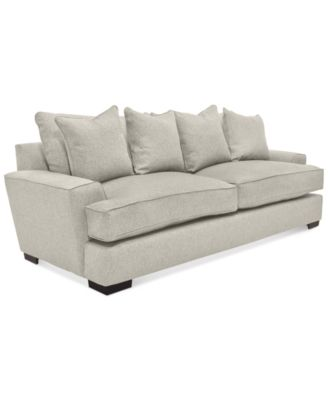 ainsley fabric sofa with 4 toss pillows created for macyu0027s - Flexsteel Sofas