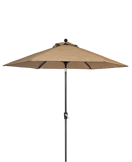 Furniture Beachmont II Outdoor 9' Auto-Tilt Patio Umbrella, Created for Macy's
