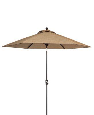 Beachmont II Outdoor 9u0027 Auto Tilt Patio Umbrella, Created For Macyu0027s