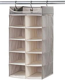 Harmony Twill 2 x 5 Shelf Closet Organizer