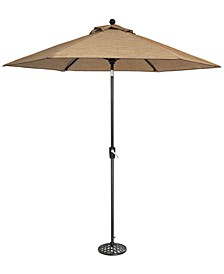 Beachmont II Outdoor 9' Auto-Tilt Patio Umbrella & Base