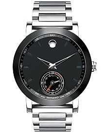 clearance closeout movado watches macy s movado men s swiss museum sport motion stainless steel bracelet smart watch 44mm 0660001