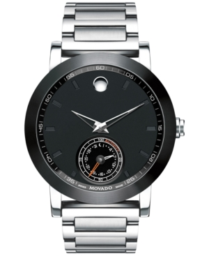 Movado Men's Swiss Museum Sport Motion Stainless Steel Bracelet Smart watch 44mm 0660001