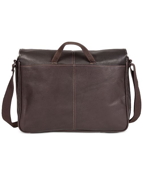 b8b1af683fb1 ... Kenneth Cole Reaction Colombian Leather Single Gusset Messenger Bag ...