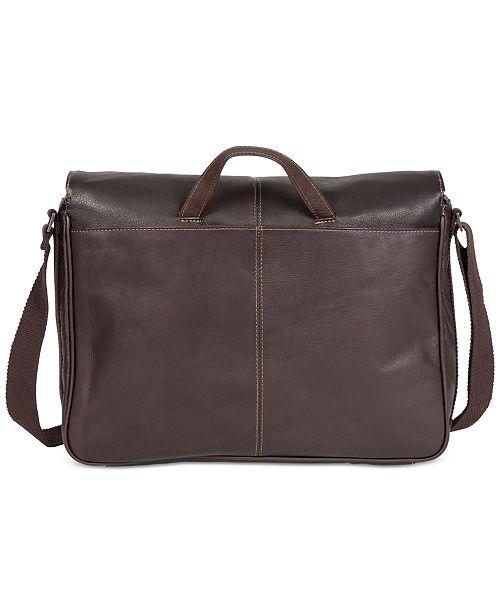 Kenneth Cole Reaction Colombian Leather Single Gusset Messenger Bag ... af722f7ff9