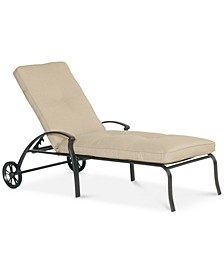 Park Gate Cast Aluminum Outdoor Chaise Lounge, Created for Macy's