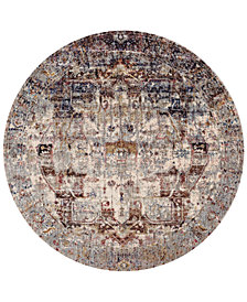 "Macy's Fine Rug Gallery Andreas   AF-08 Slate/Multi 5'3"" Round Rug"