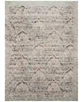 Macy's Fine Rug Gallery Andreas AF-05 Silver/Plum Area Rugs