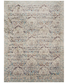 """Macy's Fine Rug Gallery Andreas   AF-05 Silver/Plum 2'7"""" x 4' Area Rug"""