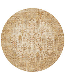 "Macy's Fine Rug Gallery Andreas   AF-11 Antique Ivory 5'3"" Round Rug"