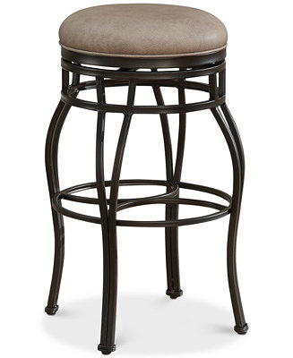 Bella Faux Leather Backless Bar Height Stool Direct Ships